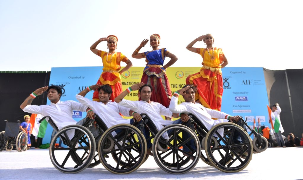 Divyang -  differently abled people - participate in a programme organised on International Day of Disabled Persons at India Gate in New Delhi on Dec 3, 2018.