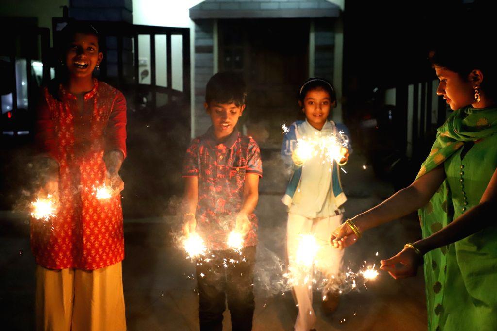 Diwali celebrations continue in Bengaluru on Oct 28, 2019.