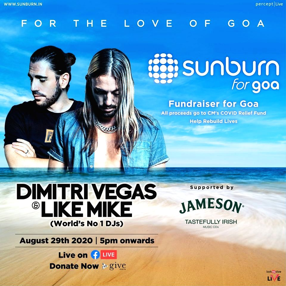 DJs Dimitri Vegas and Like Mike to perform at 'Sunburn for Goa' fundraising event.