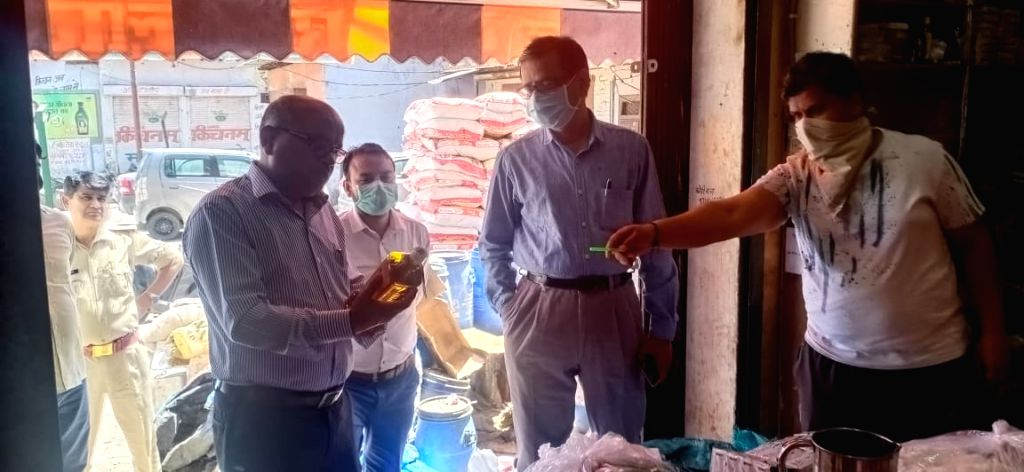 DM Gautam Budh Nagar raided several sanitizer units.
