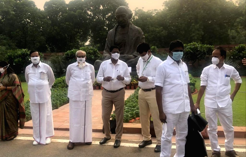 DMK, other UPA allies stage protest demanding cancellation of NEET.