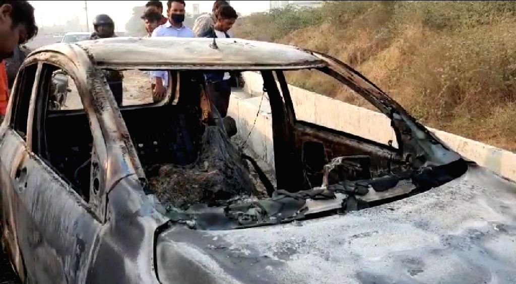 Doctor burns to death, charred body found in car; family alleges foul play.