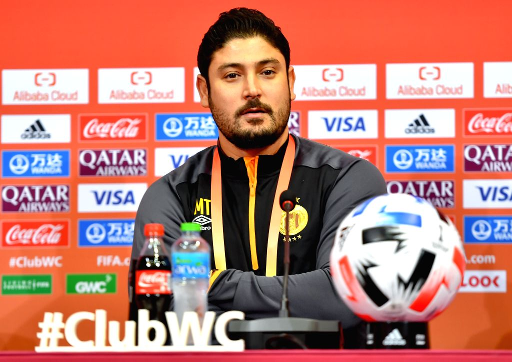 DOHA, Dec. 14, 2019 - Esperance Sportive de Tunis's assistant coach Mejdi Traoui attends a press conference at Jassim bin Hamad Stadium in Doha, Qatar, on Dec. 13, 2019. Esperance will face Al Hilal ...