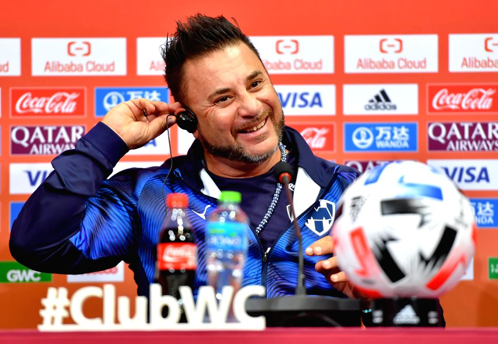 DOHA, Dec. 14, 2019 - Monterrey's head coach Antonio Mohamed attends a press conference at Jassim bin Hamad Stadium in Doha,  Qatar, on Dec. 13, 2019. Monterrey will face Al Sadd SC in their FIFA ...
