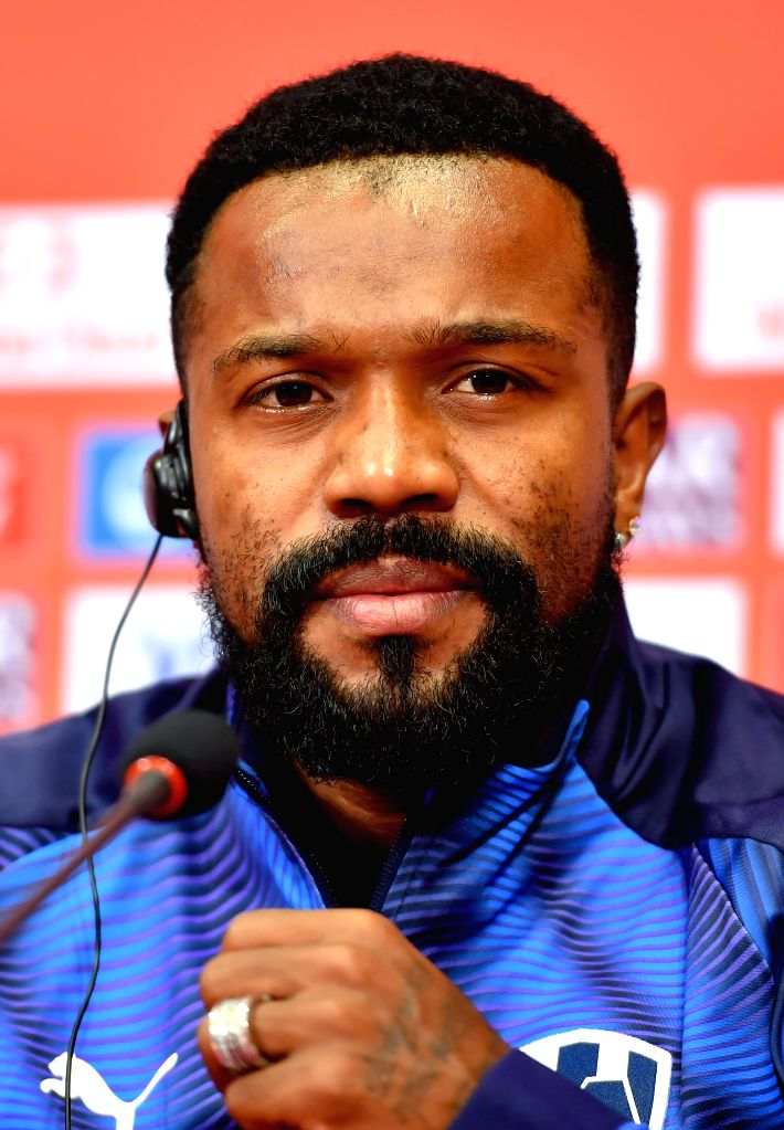 DOHA, Dec. 14, 2019 - Monterrey's player Dorlan Pabon attends a press conference at Jassim bin Hamad Stadium in Doha, Qatar, on Dec. 13, 2019. Monterrey will face Al Sadd SC in their FIFA Club World ...