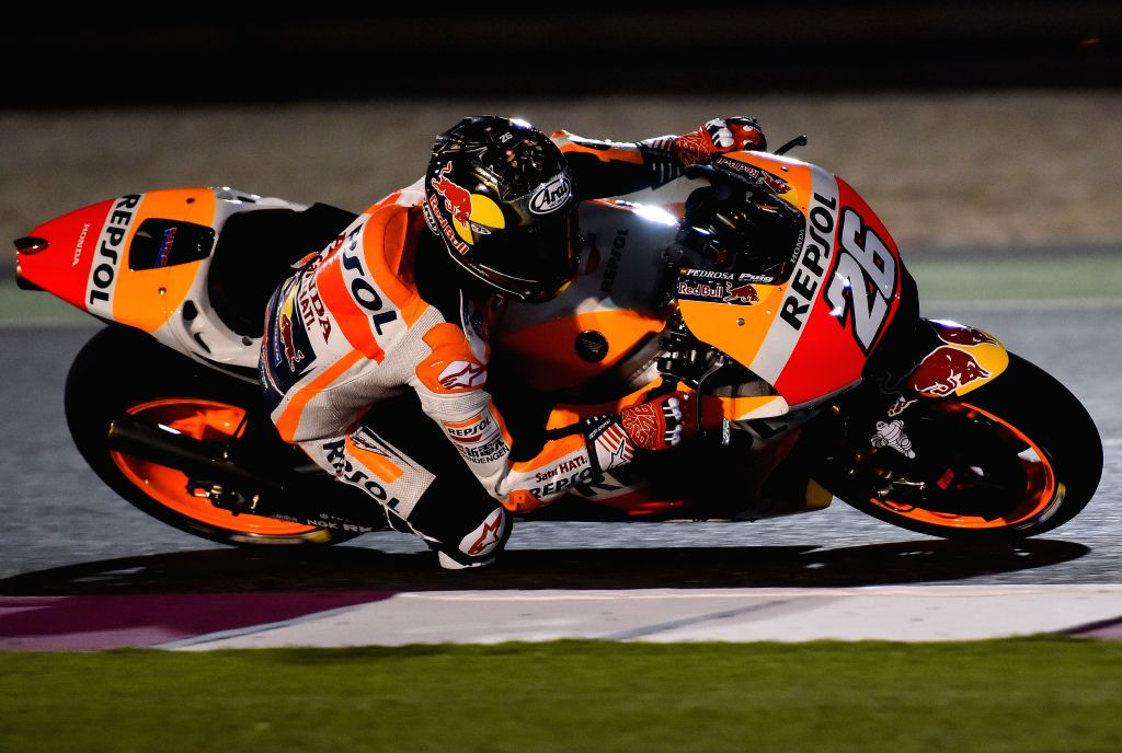 DOHA, March 11, 2017 - Repsol Honda Team Spanish rider Dani Pedrosa steers his bike during the pre-season test at the Losail International Circuit in Qatar's capital Doha on March 10, 2017, ahead of ...