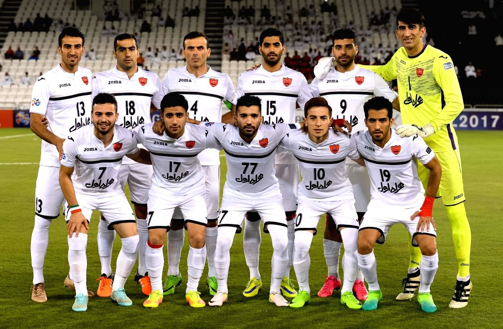 DOHA, May 31, 2017 - Iran's Persepolis FC players pose for a team photo prior to the AFC Champions League round 16 football match between Qatar's Lekhwiya club and Persepolis FC at the Jassim bin ...