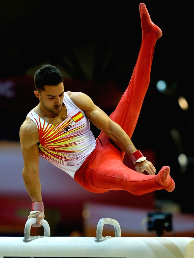 DOHA, Oct. 26, 2018 - Ruben lopez of Spain performs on the Pommel Horse during the men's qualifying round of the 48th FIG Artisitcs Gymnastics World Championships in Doha, capital of Qatar, Oct. 25, ...