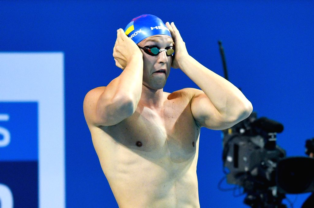 DOHA, Sept. 16, 2018 - Govorov Andrii of Ukraine prepares the Men's 50m Butterfly Final of FINA Swimming World Cup Doha 2018 in Doha, capital of Qatar on Sept. 15, 2018. Govorov Andrii claimed the ...