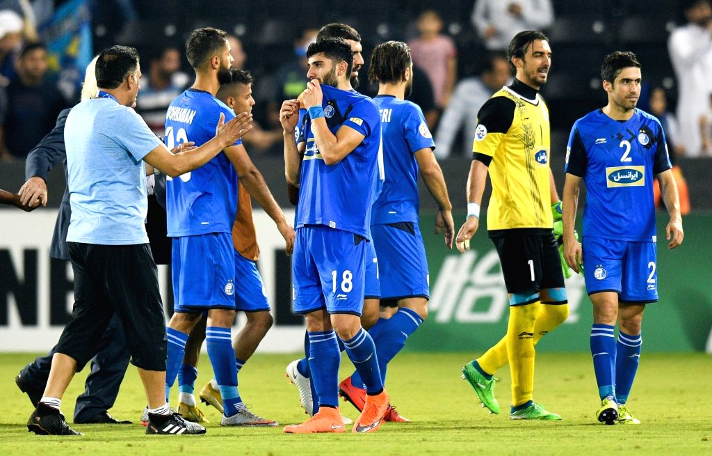 DOHA, Sept. 18, 2018 - Players of Iran's Esteghlal FC react after the AFC Asian Champions League quarterfinal second leg football match between Qatar's Al Sadd and Iran's Esteghlal FC in Doha, ...