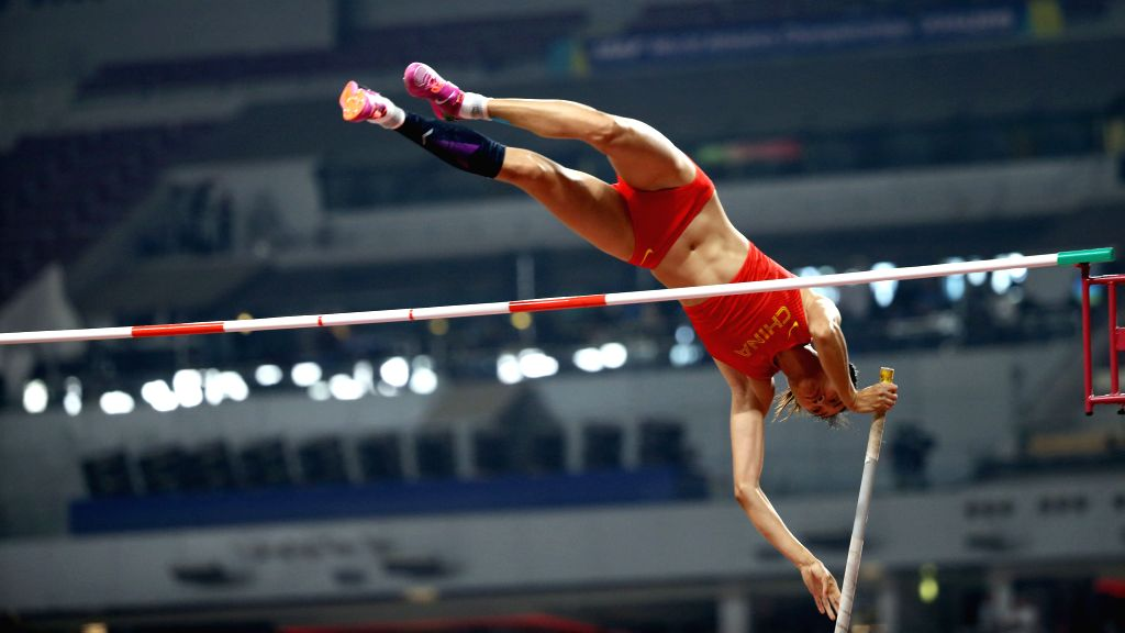 DOHA, Sept. 28, 2019 - Li Ling of China competes during the qualification round of women's pole vault at the 2019 IAAF World Athletics Championships in Doha, Qatar, Sept. 27, 2019.