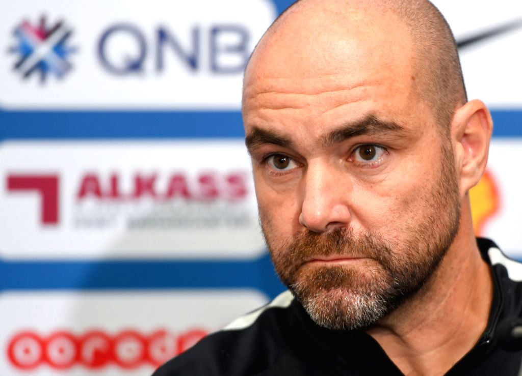 DOHA, Sept. 5, 2019 - Qatar's national soccer team head coach Felix Sanchez Bas attends a press conference for the FIFA World Cup Qatar 2022 and AFC Asian Cup China 2023 Preliminary Joint ...