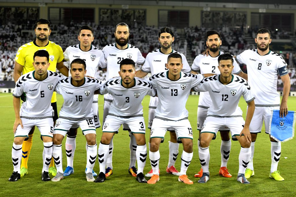 DOHA, Sept. 6, 2019 - Players of Afghanistan pose before the FIFA World Cup Qatar 2022 and AFC Asian Cup China 2023 Preliminary Joint Qualification second round Group E football match between Qatar ...