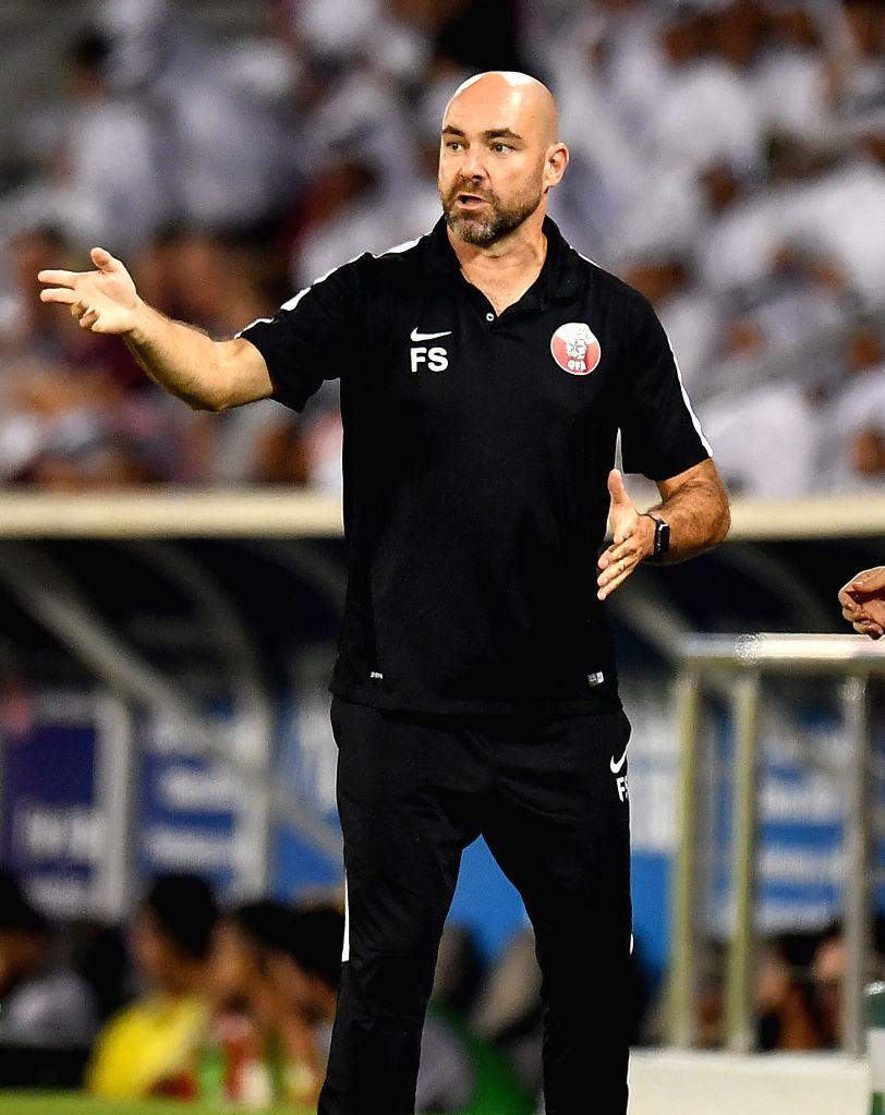 DOHA, Sept. 6, 2019 - Qatar's head coach Felix Sanchez reacts during the FIFA World Cup Qatar 2022 and AFC Asian Cup China 2023 Preliminary Joint Qualification second round Group E football match ...