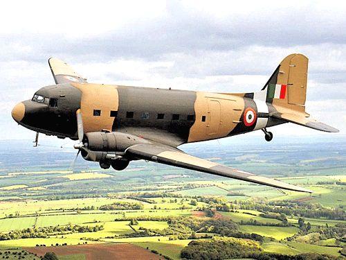 Douglas DC3 `Dakota` Aircraft of MP Rajeev Chandrasekhar