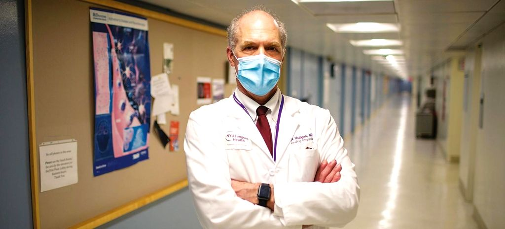 Dr Mark Mulligan, the director of the New York University Langone Vaccine Centre.