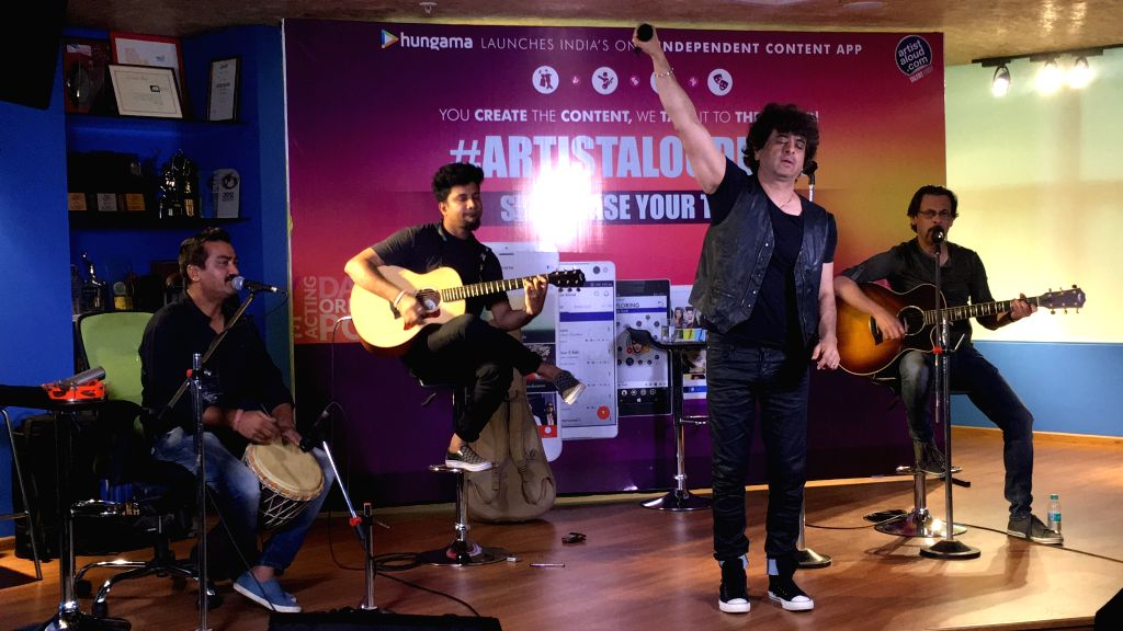 Dr. Palash Sen performs Kabootar along with a few members of his band, Euphoria celebrating the release of the video of their single Kabootar with the Artist Aloud team. - Aloud