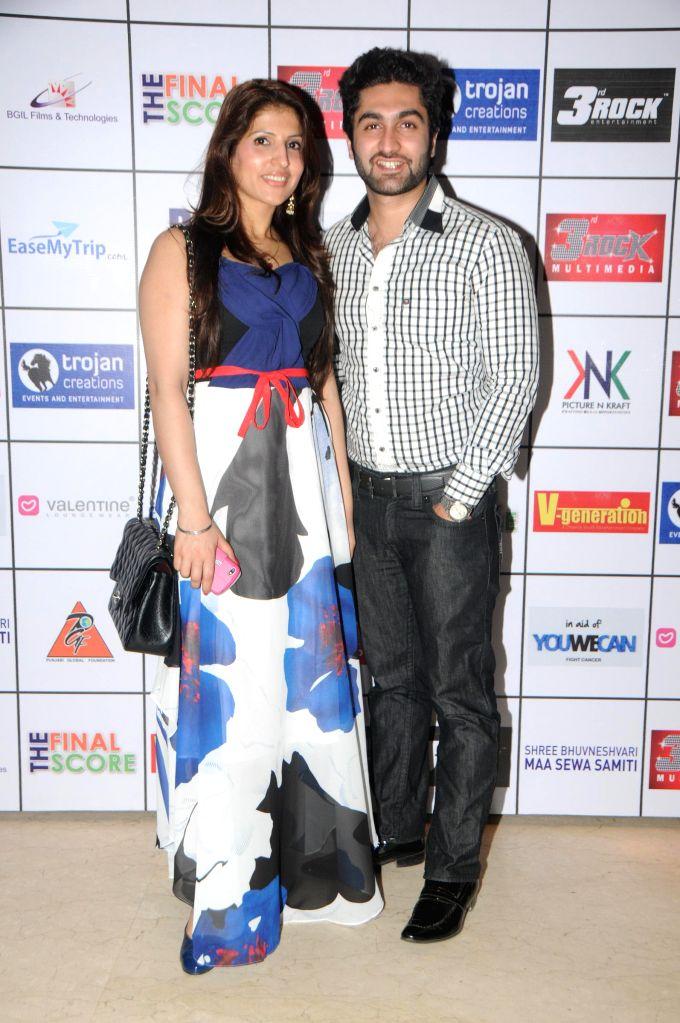 Dr.Ruby Tandon with Dr.Mohiuddin Makani during Satinder Sartaj's `Mehefil-e-Sartaaj` live concert at Hotel Novotel in Juhu, Mumbai on Saturday, June 21, 2014.