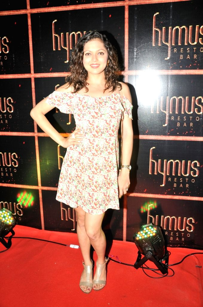 Drashti Dhami during the party organised to celebrate the opening of Hymus Resto Bar in Mumbai, on August 12, 2016.