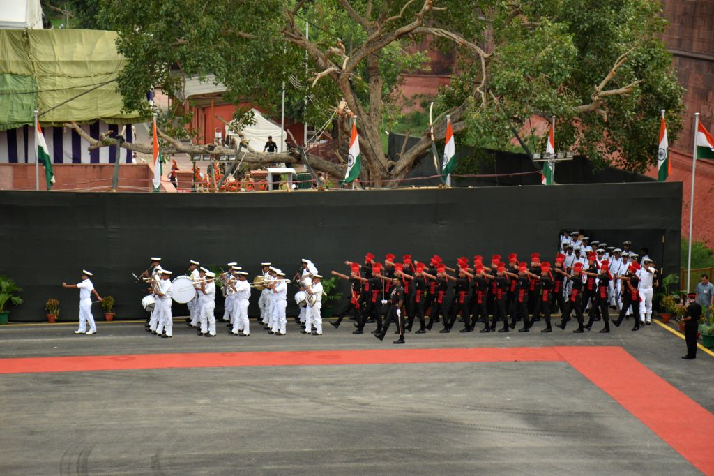 Dress rehearsal for the Independence Day celebrations at Red Fort in New Delhi on Aug. 13, 2014.