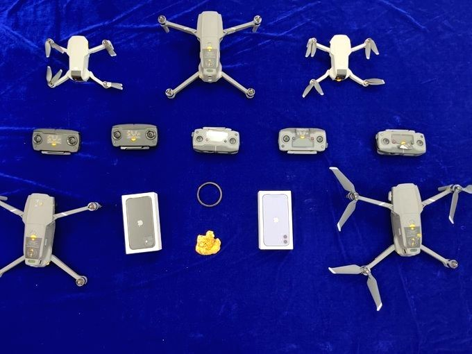 Drones, iPhones, gold seized by Customs at Chennai airport.