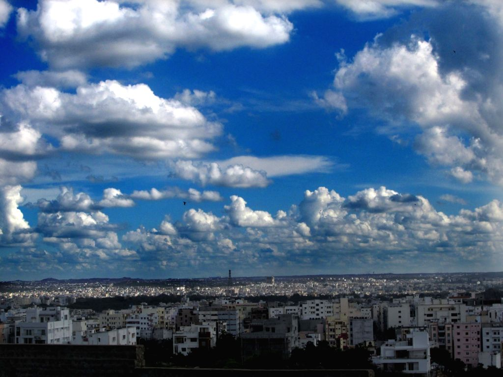 Dry clouds hung in the sky in Hyderabad on Sept 12, 2017.