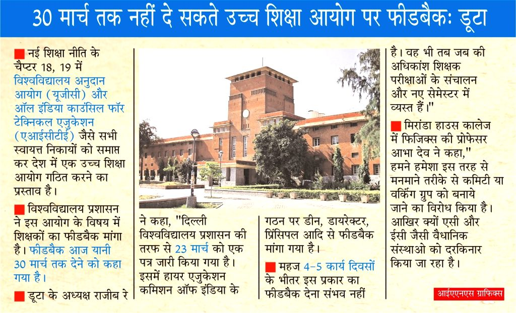 DU asks for feedback on Higher Education Commission, Duta says don't hurry.