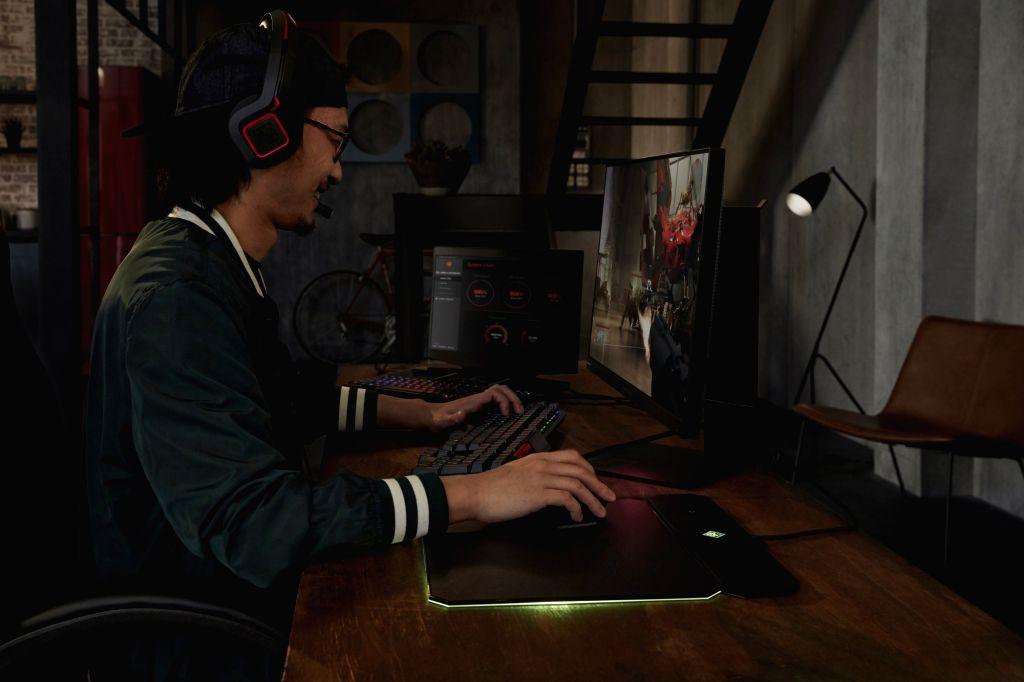 """Dual-screen gaming laptop """"OMEN X 2S"""". (File Photo: IANS)"""