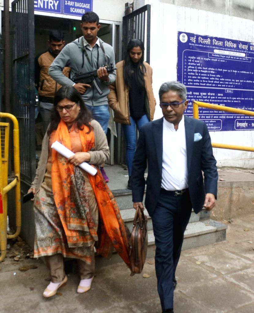 Dubai-based businessman Rajiv Saxena who wants to become an approver in the AgustaWestland VVIP chopper deal case leaves Delhi's Patiala House Court on March 2, 2019.
