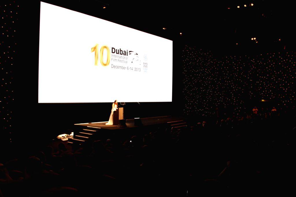 Photo taken on Dec. 6, 2013 shows the opening ceremony of the 10th Dubai International Film Festival in Dubai, the United Arab Emirates. The 10th Dubai ...