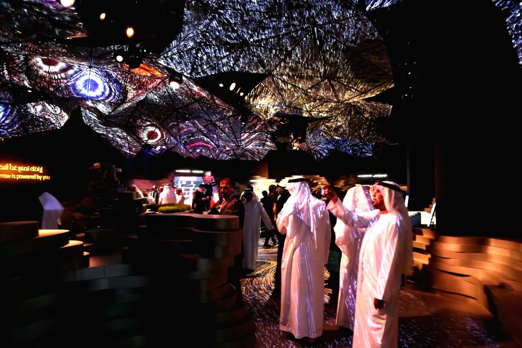DUBAI, Feb. 11, 2019 - People visit the Edge of Government Exhibition, part of the World Government Summit events, during the World Government Summit in Dubai, the United Arab Emirates (UAE), on Feb. ...