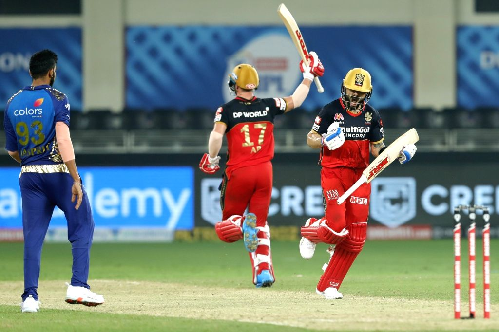 Dubai: Virat Kohli captain of Royal Challengers Bangalore celebrates the win during match 10 of season 13 of the Dream 11 Indian Premier League (IPL) between The Royal Challengers Bangalore and The Mumbai Indians held at the Dubai International Crick - Virat Kohli