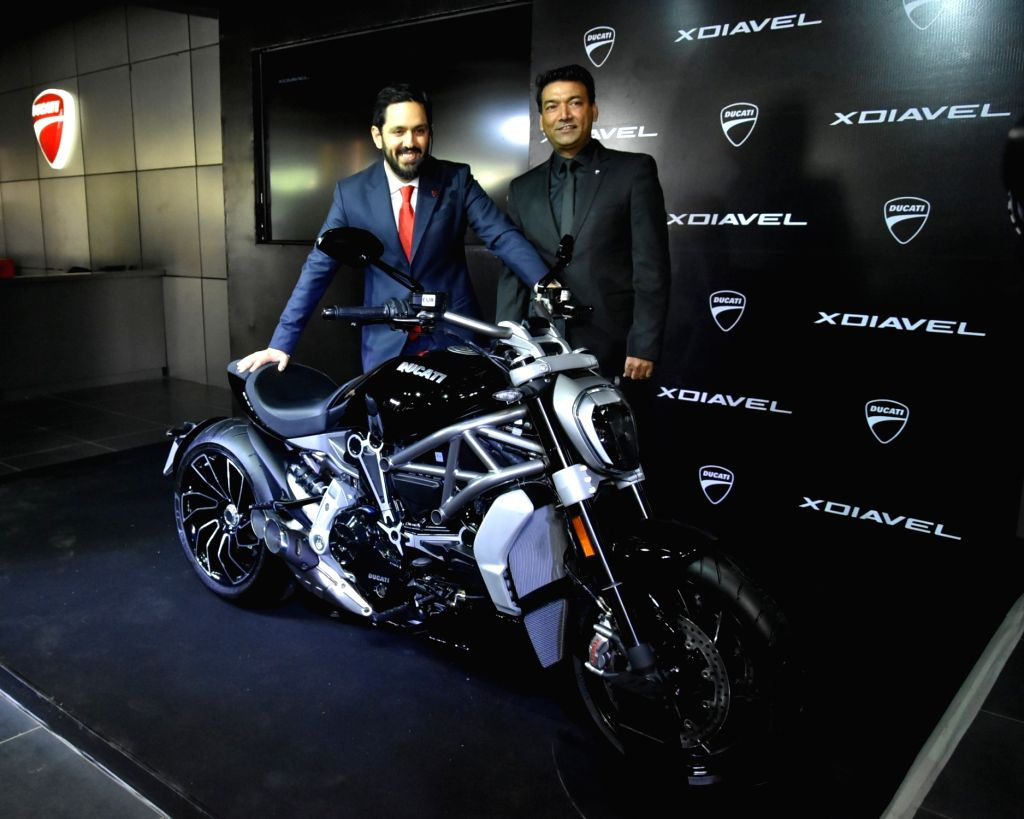 Ducati India MD Ravi Avalur and AMP Group Vice President, Sales & Marketing Ajay Yadav at the launch of XDiavel and XDiavel S in Gurgaon on Sept 15, 2016. - Ajay Yadav