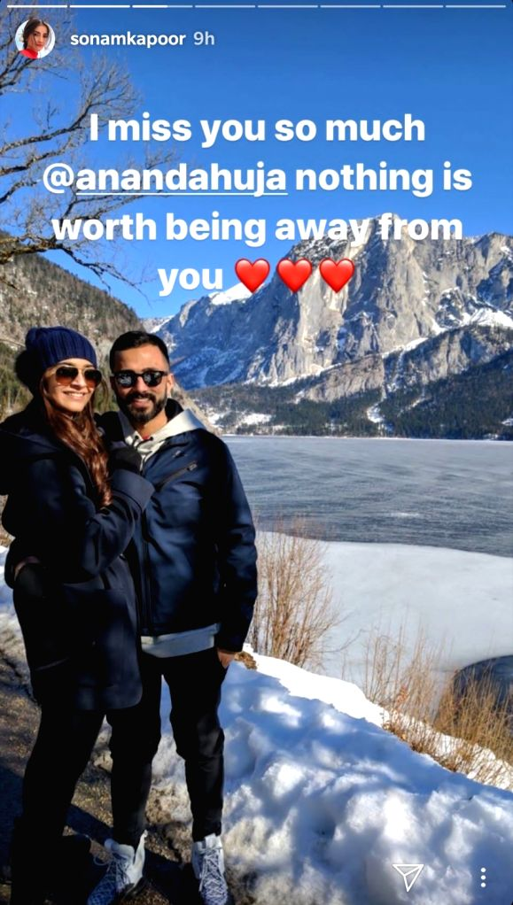 Due to work commitments, actress Sonam Kapoor Ahuja and her husband Anand Ahuja spend a lot of time apart from each other. But they both know very well how to keep their love going strong amidst long ... - Sonam Kapoor Ahuja