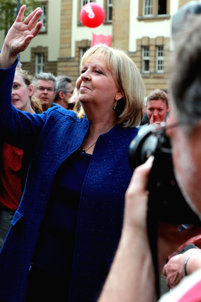 DUISBURG (GERMANY), May 12, 2017 German State Governor of Nordrhein-Westfalen and Social Democrats (SPD)'s candidate Hannelore Kraft attends the final SPD campaign rally for the North ...