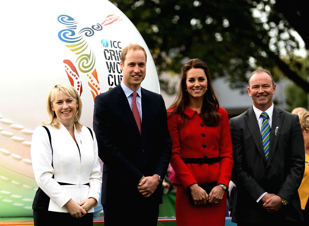 Duke of Cambridge Prince William and Duchess of Cambridge Catherine during their visit to Christchurch in South Island of New Zealand on April 14, 2014.