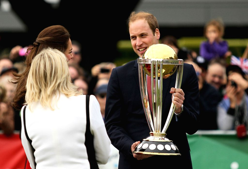 Duke of Cambridge Prince William during his visit to Christchurch in South Island of New Zealand on April 14, 2014.