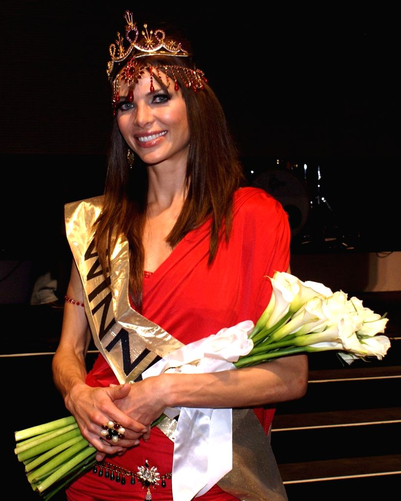 Dune Kossatz, Miss Bollywood IPL South Africa after she won the title at Montecasino in Johannesburg on Saturday night.
