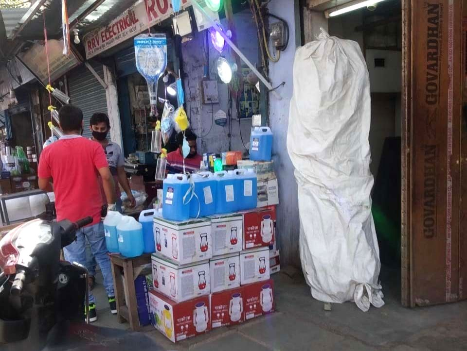 Duplicate sanitisers being sold in the national capital.