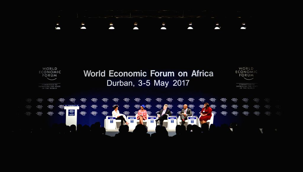 DURBAN, May 3, 2017 - Delegates attend the opening plenary of the World Economic Forum on Africa in Durban, South?Africa, on May 3, 2017. The three-day World Economic Forum on Africa 2017 kicked off ...