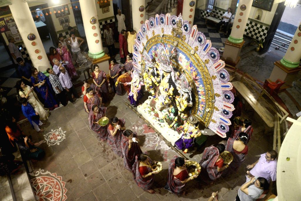 Durga Puja celebrations underway at Kolkata's Dawn Bari. (File Photo: Kuntal Chakrabarty/IANS)