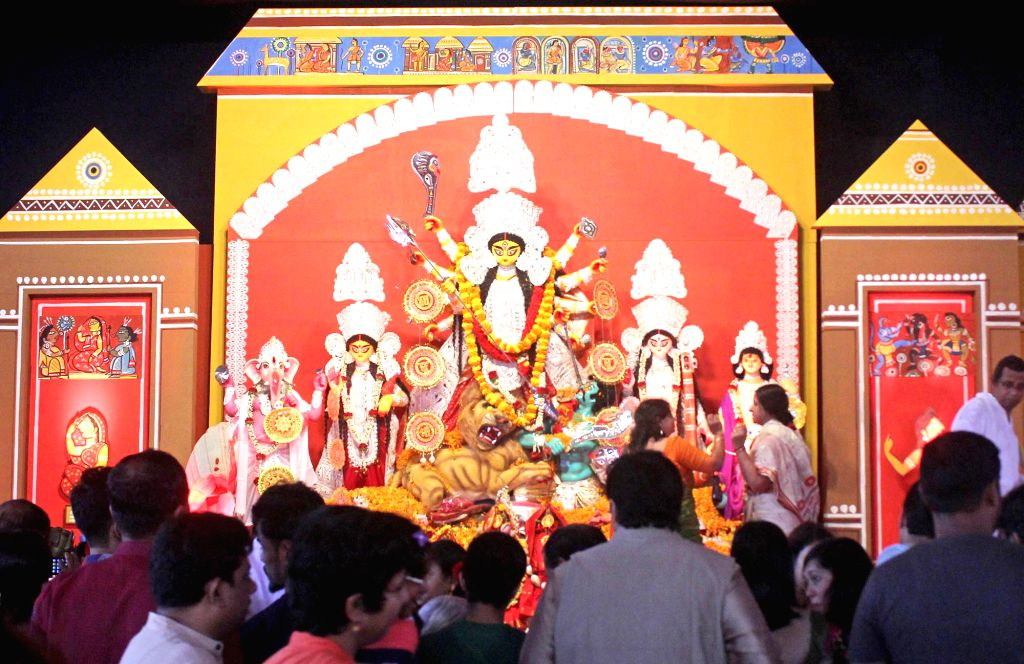 Durga Puja pandal in Bengaluru on Oct 9, 2016.