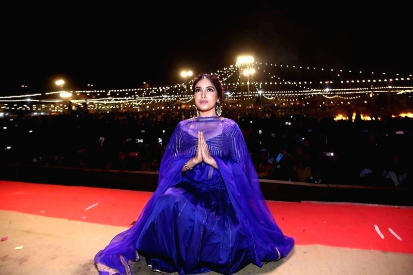 Dussehra, which marks the end of Ramleela and recalls Lord Ram's victory over Ravana, was celebrated across India a day ago, and to make the festival even more special for the people, actress Bhumi Pednekar attended the national capital's  - Bhumi Pednekar