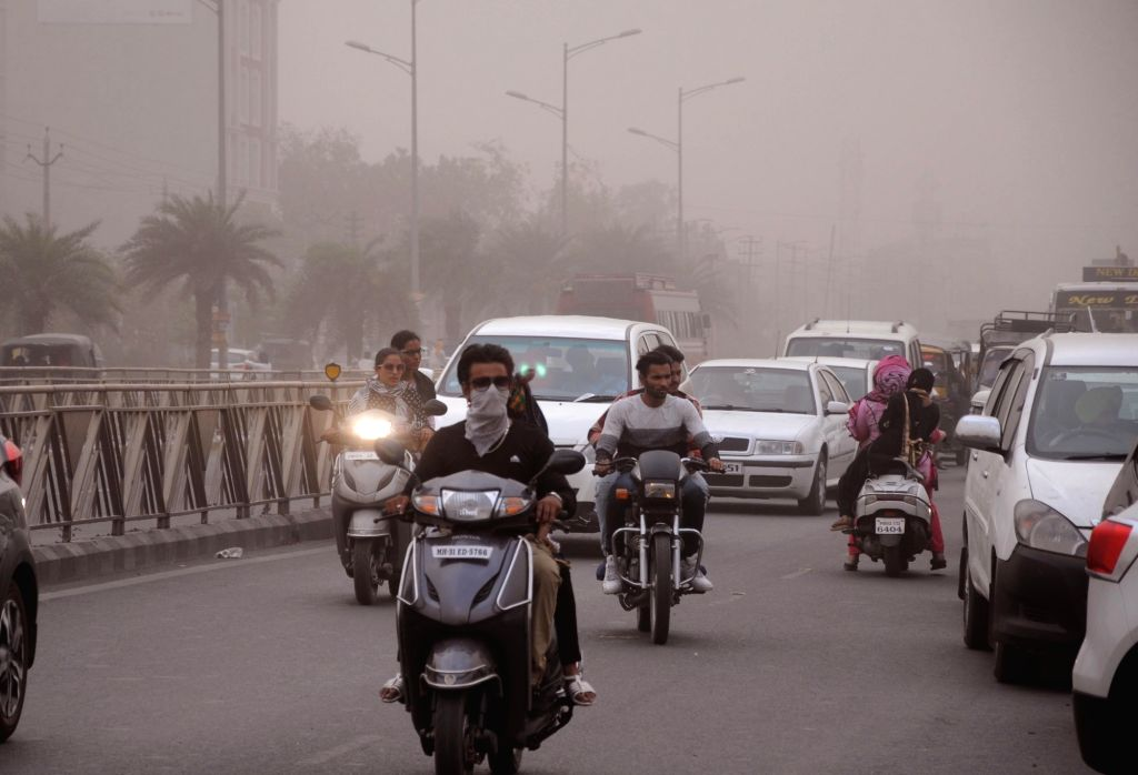 Dust storm hits Amritsar on June 1, 2018.