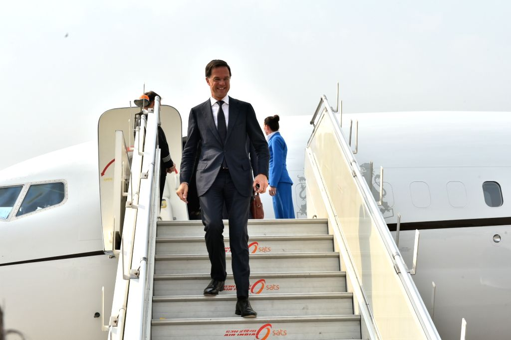 Dutch Prime Minister Mark Rutte arrives in New Delhi on May 24, 2018. - Mark Rutte
