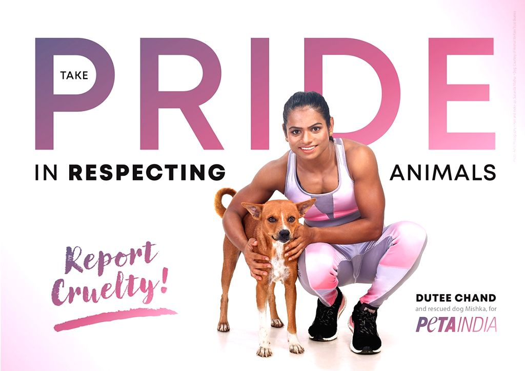 Dutee Chand stars in new PETA India ad.