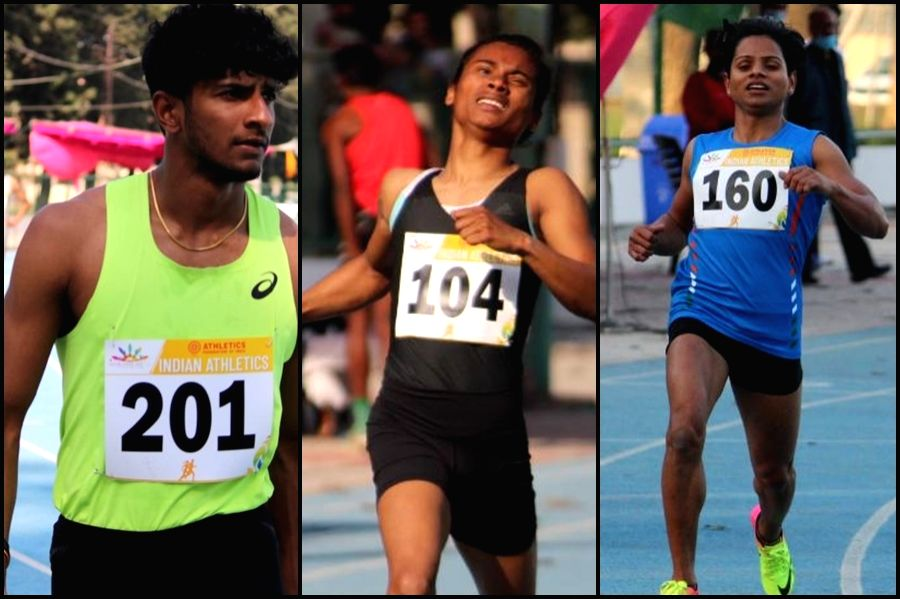 Dutee, Hima Das win sprints; Jacob 400m in personal best time (Ld).