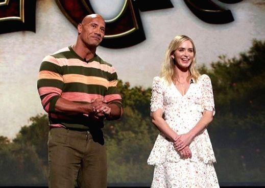 Dwayne Johnson, Emily Blunt to team up for superhero adventure.