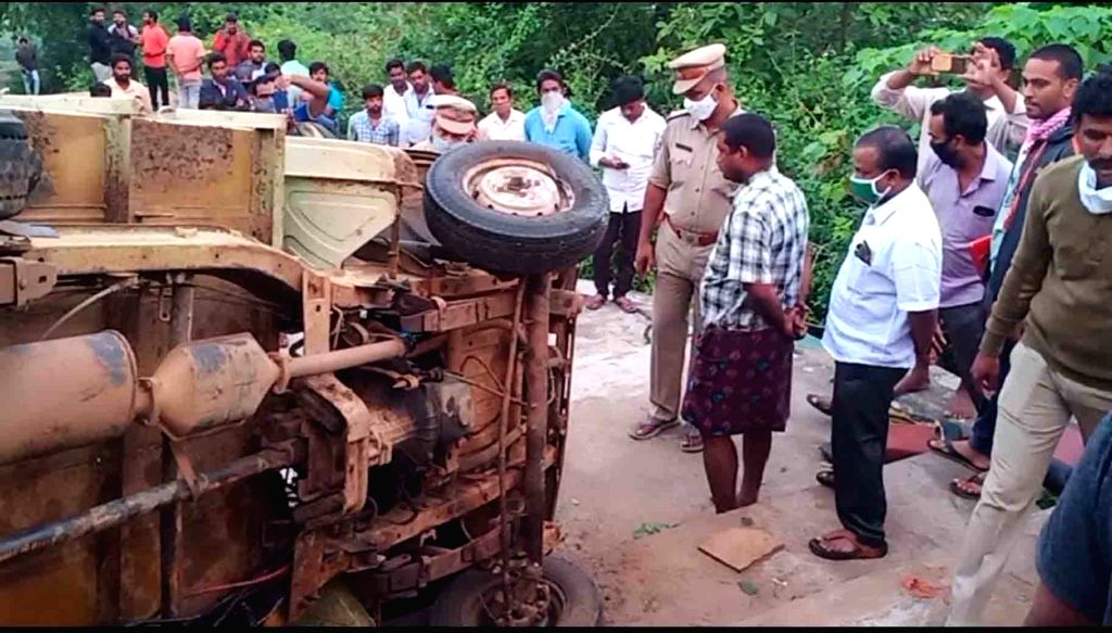 East Godavari: Six people, members of a wedding party, were killed after the vehicle they were travelling in overturned in Thantikonda village of East Godavari district in Andhra Pradesh on early Oct ...