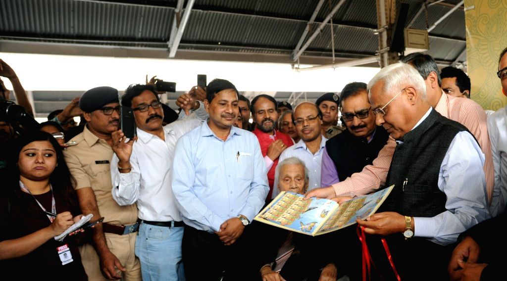 Eastern Railway General Manager Harindra Rao during a programme organised to celebrate 50 years of Howrah Rajdhani Express, in Howrah, on March 3, 2019.